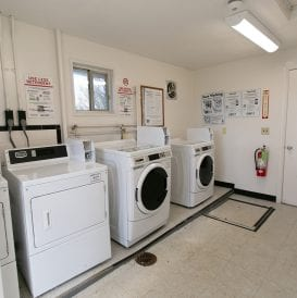 Leefort Terrace laundry area